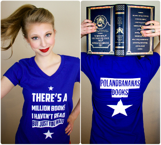 A MILLION BOOKS I HAVEN'T READ TSHIRT (LADIES)